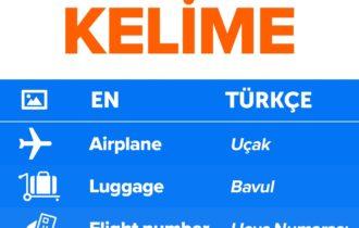 Seyahatlerde İşinize Yarayacak İngilizce Kelimeler